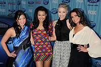 13 July 2020 - Naya Rivera, the actress best known for playing cheerleader Santana Lopez on Glee, has been confirmed dead. Rivera, 33, is believed to have drowned while swimming in the lake with her 4-year-old son, who was found asleep on their rental pontoon boat after it was overdue for return. 05 March 2009 - Los Angeles, CA. Jenna Ushkowitz, Naya Rivera, Dianna Agron and Lea Michele. American Idol Top 12 Party held at Area. Photo Credit: Byron Purvis/AdMedia