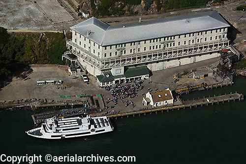 aerial photograph Alcatraz island