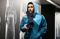 Kyle Naughton of Swansea arrives at Liberty Stadium prior to kick off of the Premier League match between Swansea City and Arsenal at the Liberty Stadium, Swansea, Wales, UK. Tuesday 30 January 2018