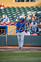 Willie Calhoun (5) of the Round Rock Express bats against the Omaha Storm Chasers at Werner Park on May 27, 2018 in Papillion , Nebraska. Round Rock defeated Omaha 8-3. (Stephen Smith/Four Seam Images)