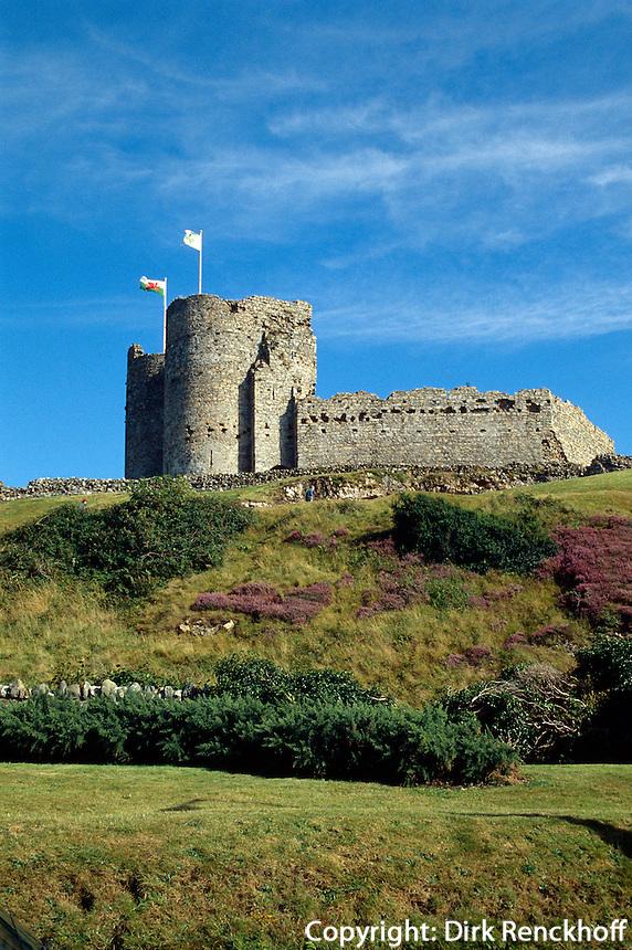 Großbritannien, Wales, Burg von Criccieth