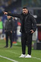 Gennaro Gattuso coach of SSC Napoli gestures during the Serie A football match between SSC Napoli and Spezia Calcio at stadio Diego Armando Maradona in Napoli (Italy), January 06th, 2021. <br /> Photo Cesare Purini / Insidefoto