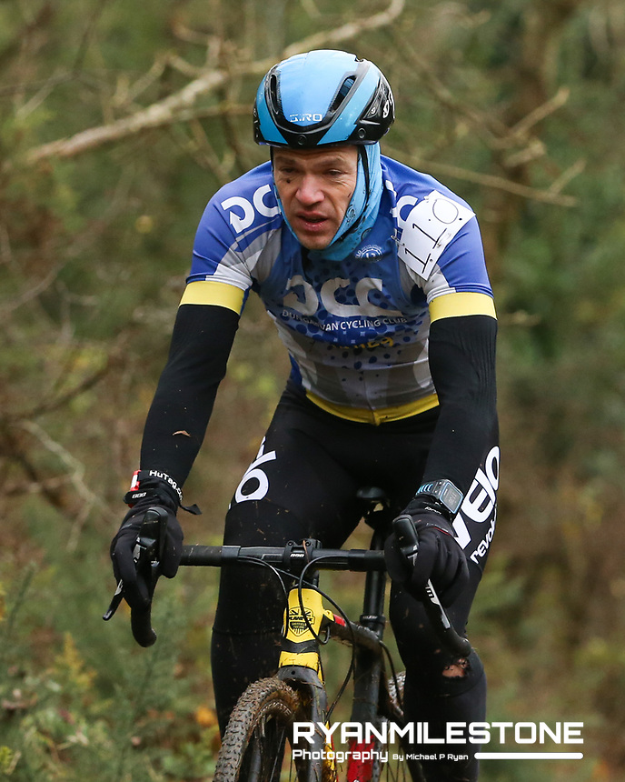 EVENT:<br /> Round 5 of the 2019 Munster CX League<br /> Drombane Cross<br /> Sunday 1st December 2019,<br /> Drombane, Co Tipperary<br /> <br /> CAPTION:<br /> Darren Tutty of Dungarvan CC in action during the B Race<br /> <br /> Photo By: Michael P Ryan