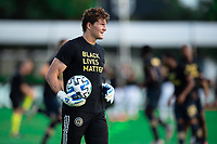 LAKE BUENA VISTA, FL - JULY 20: Joe Bendik #12 of the Philadelphia Union before the game during a game between Orlando City SC and Philadelphia Union at Wide World of Sports on July 20, 2020 in Lake Buena Vista, Florida.