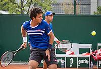 Paris, France, 30 May, 2017, Tennis, French Open, Roland Garros, Man's doubles Jean-Julien Rojer (NED) / Horia Tecau (ROU) (R)<br /> Photo: Henk Koster/tennisimages.com