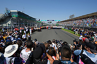 March 17, 2019: Drivers and the FIA pose for a group photograph to remember their colleague Charlie Whiting who died in Melbourne prior to the start of the race on the main straight at the 2019 Australian Formula One Grand Prix at Albert Park, Melbourne, Australia. Photo Sydney Low