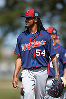 Minnesota Twins pitcher Ervin Santana (54) during a Spring Training practice on March 1, 2016 at Hammond Stadium in Fort Myers, Florida.  (Mike Janes/Four Seam Images)