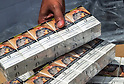 Malaysian customs seized illegal cigarettes from Vietnam at Klang port