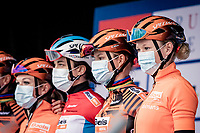 Jolien D'Hoore (BEL/Boels Dolmans) at the race start<br /> <br /> AG Driedaagse Brugge-De Panne 2020 (1.WWT)<br /> 1 day race from Brugge to De Panne (156km) <br /> <br /> ©kramon