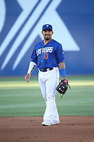 Phillip Evans (13) of the Las Vegas 51s during a game against the Sacramento River Cats at Cashman Field on June 15, 2017 in Las Vegas, Nevada. Las Vegas defeated Sacramento, 12-4. (Larry Goren/Four Seam Images)