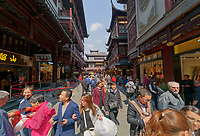 Old City district of Shanghai, China