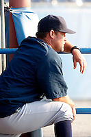 August 16, 2009:  Hitting Coach Ty Hawkins of the Staten Island Yankees during a game at Dwyer Stadium in Batavia, NY.  Staten Island is the Short-Season Class-A affiliate of the New York Yankees.  Photo By Mike Janes/Four Seam Images