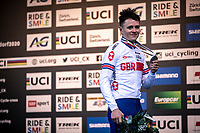 podium, Thomas Pidcock (GBR) 2nd place<br /> <br /> Men's Elite race<br /> UCI 2020 Cyclocross World Championships<br /> Dübendorf / Switzerland<br /> <br /> ©kramon
