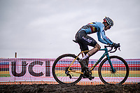 Thibau Nys (BEL) solo's to victory in the men's junior World Championship and becomes world champion, a jersey his legendary father Sven Nys never got in that category. <br /> <br /> Men's Junior race<br /> UCI 2020 Cyclocross World Championships<br /> Dübendorf / Switzerland<br /> <br /> ©kramon