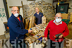Tom Murphy, Brendan and Pat Walsh working hard at the Tralee Mens Shed in Tralee on Thursday.
