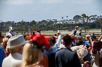 DEL MAR, CA  JULY 16: The My Racehorse contingent cheering on  Going to Vegas in the third race on July 16, 2021 at Del Mar Thoroughbred Club in Del Mar, Ca. (Photo by Casey Phillips/Eclipse Sportswire/CSM)