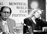 """August 30, 1987 File Photo - Montreal (Qc) Canada -  Liv Ullman at the 1987 World Film Festival.<br /> <br /> Liv Johanne Ullmann (born 16 December 1938) is a Norwegian actress and film director, as well as one of the """"muses"""" of the Swedish director Ingmar Bergman. Nominated five times for a Best Actress Golden Globe, winning once for The Emigrants, Ullmann has also been nominated for the Palme d'Or, two times for the Academy Award, and two times for a BAFTA Film Award."""