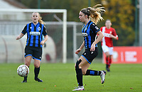 Talitha De Groote (20 Brugge) pictured during a female soccer game between Standard Femina de Liege and Club Brugge YLA on the seventh matchday of the 2020 - 2021 season of Belgian Scooore Womens Super League , saturday 14 th of November 2020  in Angleur , Belgium . PHOTO SPORTPIX.BE | SPP | DAVID CATRY