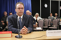 Former justice minister Marc Bellemare waits for his testimony to begin at the Inquiry Commission into the appointment process for judges, more well know as the Commission Bastarche, Monday, August 30, 2010 in Quebec City.<br /> <br /> PHOTO :  Francis Vachon - Agence Quebec Presse
