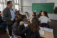 Serbia. Veliki Trnovac (in Albanian: Tërnoc i Madh) is a town in the municipality of Bujanovac, located in the Pčinja District of southern Serbia. «Muharrem Kadriu» Elementary School. The school's students are all from Albanian ethnicity. Classroom. 8th Grade. History class. A teacher and his pupils. Bujanovac is located in the geographical area known as Preševo Valley. The Pestalozzi Children's Foundation (Stiftung Kinderdorf Pestalozzi) is advocating access to high quality education for underprivileged children. It supports in Bujanovac a project called» Our towns, our schools». 16.4.2018 © 2018 Didier Ruef for the Pestalozzi Children's Foundation