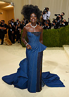 """Lupita Nyong'o attends The Metropolitan Museum of Art's Costume Institute benefit gala celebrating the opening of the """"In America: A Lexicon of Fashion"""" exhibition on Monday, Sept. 13, 2021, in New York. (Photo by Evan Agostini/Invision/AP)"""