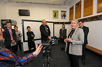 Cricket Wellington general manager and former White Fern Liz Green. 2022 Women's Cricket World Cup tournament venues presser at the Basin Reserve in Wellington, New Zealand on Tuesday, 17 November 2020. Organisers for the 2022 Women's Cricket World Cup are welcoming a $2 million funding boost that will go towards upgrading player facilities at the five New Zealand venues for the tournament. Photo: Dave Lintott / lintottphoto.co.nz