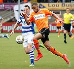 Nederland, Volendam, 31 mei 2015<br /> Playoffs om promotie/degradatie<br /> Seizoen 2014-2015<br /> FC Volendam-De Graafschap<br /> Brandley Kuwas (r.) van FC Volendam en Vlatko Lazic van De Graafschap strijden, in een duel, om de bal.