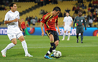 David Villa of Spain scores his side's five goal. Spain defeated New Zealand 5-0 during the FIFA Conferderations Cups at Royal Bafokeng Stadium, in Rustenburg South Africa on June 14, 2009.