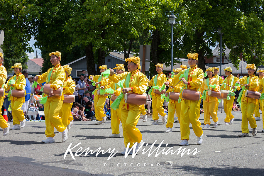 Falun Dafa Group, Kent Cornucopia Days 2017, Kent, Washington, USA.