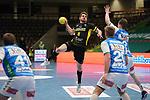 Rudolf Faluvegi (TVB) beim Wurf beim Spiel in der Handball Bundesliga, Frisch Auf Goeppingen - TVB 1898 Stuttgart.<br /> <br /> Foto © PIX-Sportfotos *** Foto ist honorarpflichtig! *** Auf Anfrage in hoeherer Qualitaet/Aufloesung. Belegexemplar erbeten. Veroeffentlichung ausschliesslich fuer journalistisch-publizistische Zwecke. For editorial use only.