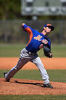 New York Mets pitcher Matt Blackham (82) during a minor league spring training game against the Miami Marlins on March 30, 2015 at the Roger Dean Complex in Jupiter, Florida.  (Mike Janes/Four Seam Images)