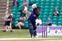 Keaton Jennings bats for Lancashire during Kent Spitfires vs Lancashire, Royal London One-Day Cup Cricket at The Kent County Cricket Ground on 28th July 2021