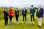 Waterville Captains held their ceremonial Drive In on Monday pictured here l-r; Lady President Anne Ahern, Aoibheann Devereux(Junior Captain), Lady Captain Mary O'Sullivan, Captain Seamus Kelly, Darragh Devlin(Junior Captain) & President John Fleming.