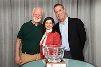 Marshall Goldsmith Carol Kauffman and Tony Marx at Coaching in Leadership and Healthcare Conference by the Institute of Coaching and Harvard Medical School at the Renaissance Hotel Boston MA October 13 and 14, 2017