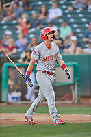 Carson Kelly (19) of the Memphis Redbirds during the game against the Salt Lake Bees at Smith's Ballpark on July 24, 2018 in Salt Lake City, Utah. Memphis defeated Salt Lake 14-4. (Stephen Smith/Four Seam Images)