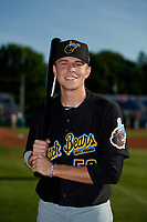 West Virginia Black Bears Will Matthiessen (59) poses for a photo before a NY-Penn League game against the Batavia Muckdogs on June 27, 2019 at Dwyer Stadium in Batavia, New York.  West Virginia defeated Batavia 6-5 in ten innings.  (Mike Janes/Four Seam Images)