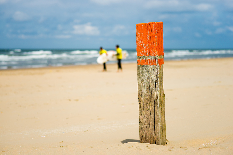A pole on the beach for people to meet