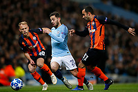 Serhiy Bolbat of Shakhtar Donetsk, Bernardo Silva of Manchester City and Ismaily of Shakhtar Donetsk during the UEFA Champions League Group F match between Manchester City and Shakhtar Donetsk at the Etihad Stadium on November 7th 2018 in Manchester, England. (Photo by Daniel Chesterton/phcimages.com)<br /> Foto PHC/Insidefoto <br /> ITALY ONLY