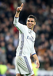 Real Madrid's Carlos Henrique Casemiro celebrates goal during Champions League 2016/2017 Round of 16 1st leg match. February 15,2017. (ALTERPHOTOS/Acero)