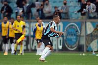 6th October 2021; Arena do Gremio, Porto Alegre, Brazil; Brazilian Serie A, Gremio versus Cuiaba; Alisson of Gremio celebrates his second goal in the 82nd minute 2-2