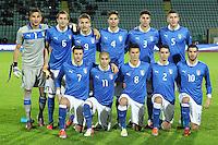 """Formazione Italia.Siena 13/11/2012 Stadio """"Franchi"""".Football Calcio Nazionale U21.Italia v Spagna.Foto Insidefoto Paolo Nucci."""