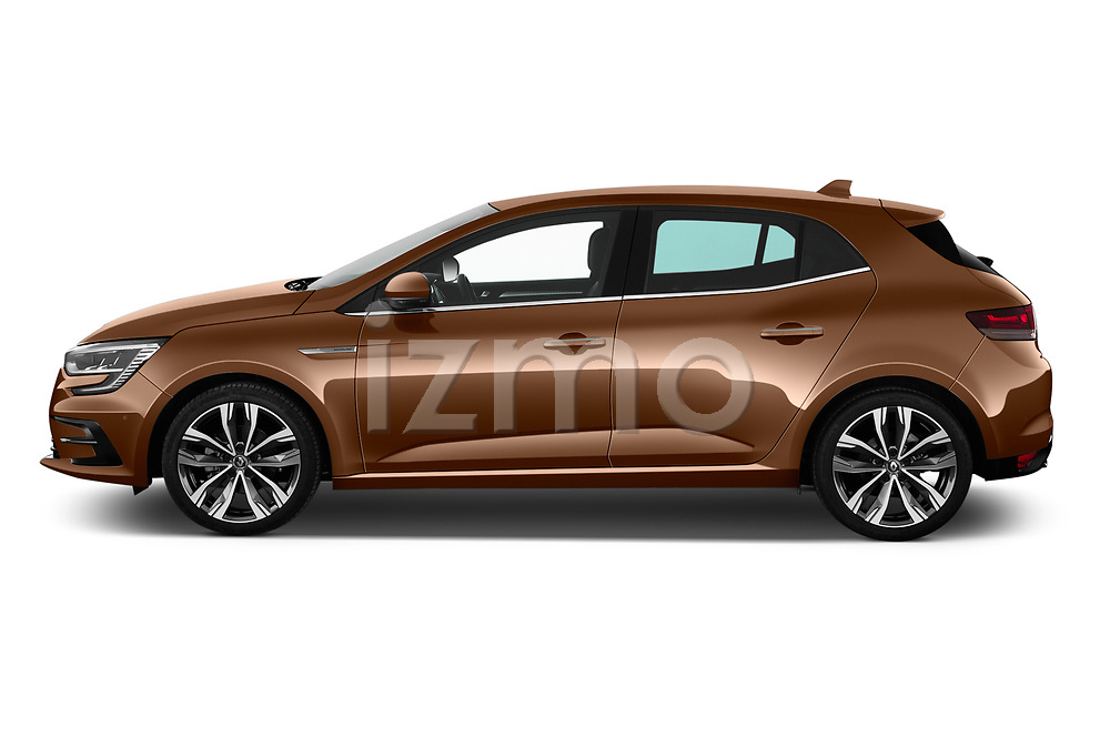 Car Driver side profile view of a 2020 Renault Megane Edition-One 5 Door Hatchback Side View