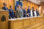 King Felipe VI of Spain attends to the closing ceremony of the XVI course of chief of the school of the armed forces at CESEDEN in Madrid, Spain. June 23, 2015.<br />  (ALTERPHOTOS/BorjaB.Hojas)