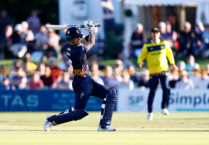 Joe Denly hits out for Kent during Kent Spitfires vs Hampshire Hawks, Vitality Blast T20 Cricket at The Spitfire Ground on 9th June 2021