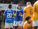 27.09.2020 Motherwell v Rangers:  Cedric Itten celebrates as he scores goal no 4 for Rangers