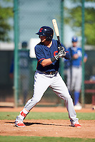 Cleveland Indians Alexis Pantoja (13) during an Instructional League game against the Kansas City Royals on October 11, 2016 at the Cleveland Indians Player Development Complex in Goodyear, Arizona.  (Mike Janes/Four Seam Images)