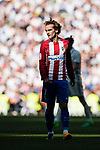 Antoine Griezmann of Atletico de Madrid looks on during their La Liga match between Real Madrid and Atletico de Madrid at the Santiago Bernabeu Stadium on 08 April 2017 in Madrid, Spain. Photo by Diego Gonzalez Souto / Power Sport Images