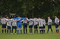 Albion Manor FC players observe a one minute's silence prior to a Hackney & Leyton League match at Victoria Park - 07/09/08 - MANDATORY CREDIT: Gavin Ellis/TGSPHOTO - Self billing applies where appropriate - Tel: 0845 094 6026