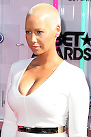 LOS ANGELES, CA, USA - JUNE 29: Model Amber Rose arrives at the 2014 BET Awards held at Nokia Theatre L.A. Live on June 29, 2014 in Los Angeles, California, United States. (Photo by Xavier Collin/Celebrity Monitor)