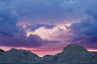Sunset from Badlands Overlook <br />